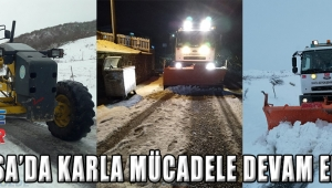 Manisa'da Karla Mücadele Devam Ediyor!
