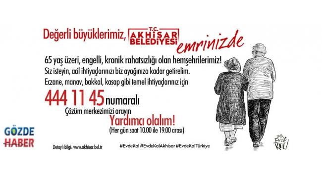 Akhisar Belediyesi, 65 Yaş Üstü Vatandaşların Emrinde