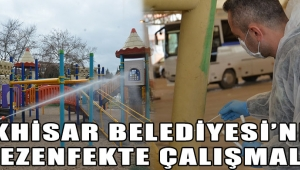 Akhisar Belediyesi'nden Dezenfekte Çalışmaları