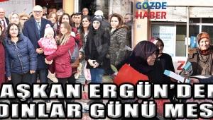 Başkan Ergün'den Kadınlar Günü Mesajı