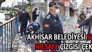 Akhisar Belediyesi Sosyal Mesafe Çizgisi Çekti !