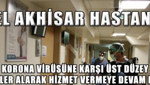 Özel Akhisar Hastanesi Korona Virüsüne Karşı Üst Düzey Önlemler Alarak Hizmet Vermeye Devam Ediyor
