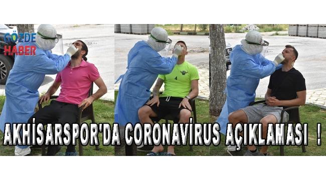 Akhisarspor'da Coronavirus Açıklaması !