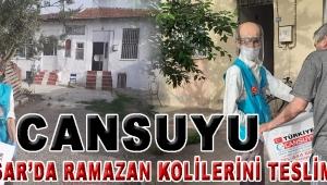 CANSUYU AKHİSAR'DA RAMAZAN KOLİLERİNİ TESLİM ETTİ!