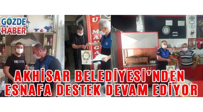 Akhisar Belediyesi'nden esnafa destek devam ediyor!