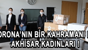 Akhisar'da Kadınlar Gönüllü Olarak 4 Bin Maske Üretti !