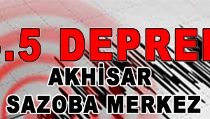 Akhisar'da 5.5 Büyüklüğünde Deprem !