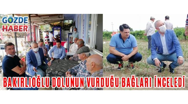 BAKIRLIOĞLU DOLUNUN VURDUĞU BAĞLARI İNCELEDİ!
