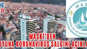 MASKİ'den Kamuoyuna Koronavirüs Salgını Açıklaması!
