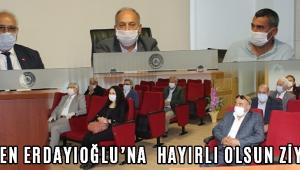 MHP'den Erdayıoğlu'na Hayırlı Olsun Ziyareti !