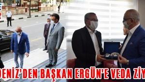 Vali Deniz'den Başkan Ergün'e Veda Ziyareti!