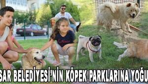 Akhisar Belediyesi'nin köpek parklarına yoğun ilgi!