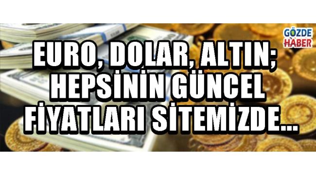 Euro, Dolar, Altın; Hepsinin Güncel Fiyatları Sitemizde…