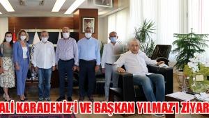 ATSO VALİ KARADENİZ'İ VE BAŞKAN YILMAZ'I ZİYARET ETTİ