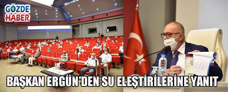 Başkan Ergün'den Su Eleştirilerine Yanıt