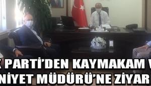 Ak Parti'den Kaymakam ve Emniyet Müdürü'ne Ziyaret !