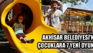 Akhisar Belediyesi'nden çocuklara 7 yeni oyun parkı!