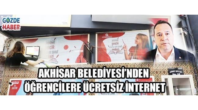 Akhisar Belediyesi'nden öğrencilere ücretsiz internet