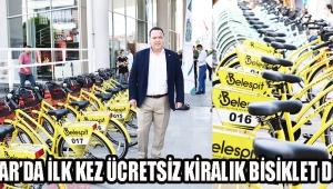 Akhisar'da ilk kez ücretsiz kiralık bisiklet dönemi!