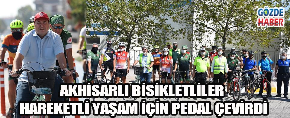 Akhisarlı bisikletliler hareketli yaşam için pedal çevirdi