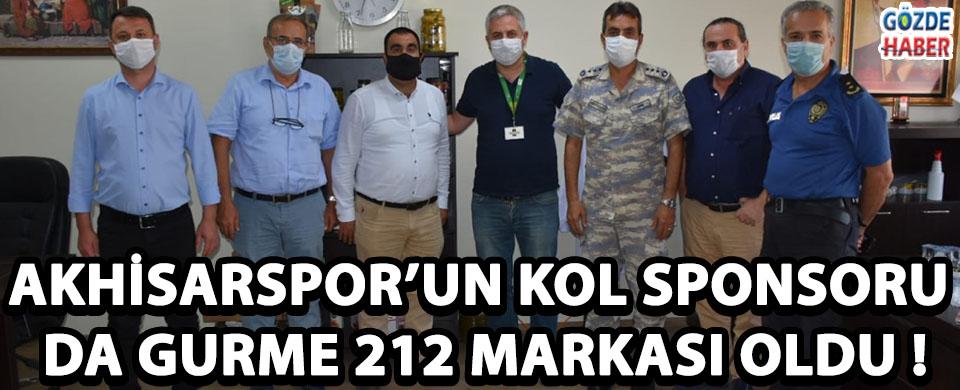 AKHİSARSPOR'UN KOL SPONSORU DA GURME 212 MARKASI OLDU !