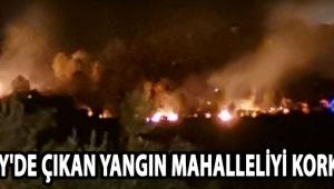 Hasköy'de Çıkan Yangın Mahalleliyi Korkuttu !