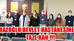 KİRAZOĞLU DEVLET HASTANESİNE TAZE KAN !!!