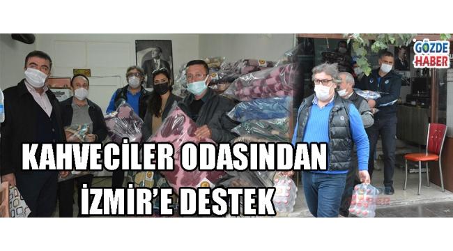 KAHVECİLER ODASINDAN İZMİR'E DESTEK!