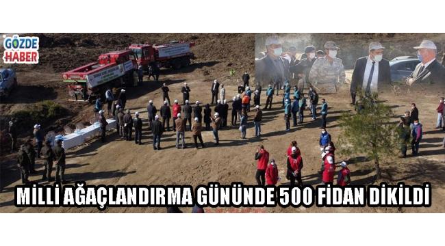 MİLLİ AĞAÇLANDIRMA GÜNÜNDE 500 FİDAN DİKİLDİ!