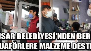 Akhisar Belediyesi'nden berber ve kuaförlere malzeme desteği !