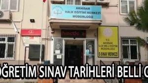 AÇIKÖĞRETİM SINAV TARİHLERİ BELLİ OLDU !