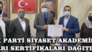Ak Parti Siyaset Akademisi Başarı Sertifikaları Dağıtıldı !