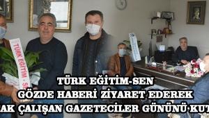Akhisar Türk Eğitim-Sen Akhisar Gözde Haberi ziyaret ederek 10 Ocak Çalışan Gazeteciler gününü Kutladı.