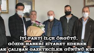 İYİ Parti İlçe Örgütü, Gözde Haberi ziyaret ederek 10 Ocak Çalışan Gazeteciler gününü Kutladı.