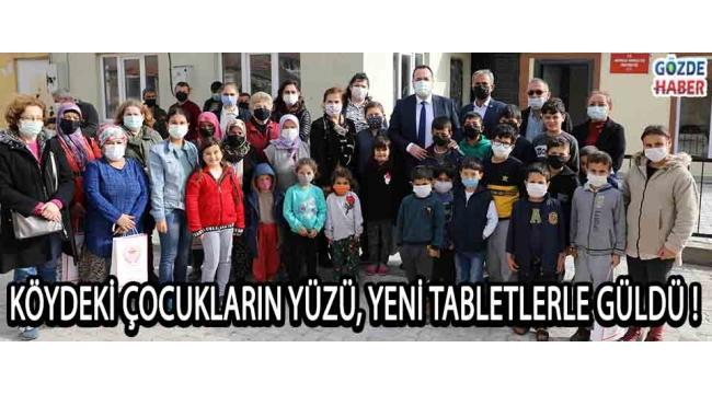 Köydeki Çocukların Yüzü, Yeni Tabletlerle Güldü !
