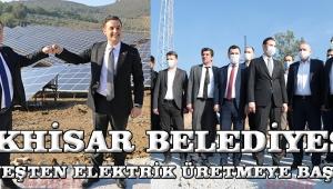 Akhisar Belediyesi güneşten elektrik üretmeye başladı