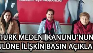 CHP Kadın Kolları'ndan Medeni Kanunun Kabulü Hakkında Açıklama !