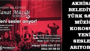 Akhisar Belediyesi Türk Sanat Müziği Korosu'na yeni sesler arıyoruz.