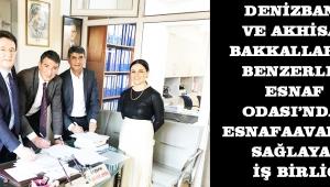 DenizBank ve Akhisar Bakkallar ve Benzerleri Esnaf Odası'ndan esnafa avantaj sağlayan iş birliği