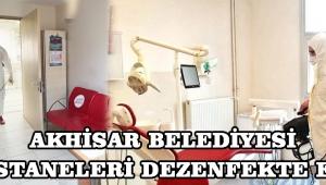 Akhisar Belediyesi Hastaneleri Dezenfekte Etti!