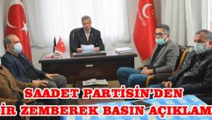 Saadet Partisinden Zehir Zemberek Basın Açıklaması!