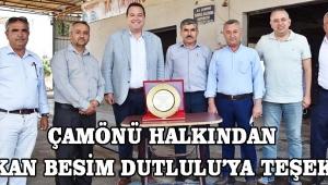 Çamönü halkından Başkan Besim Dutlulu'ya teşekkür!
