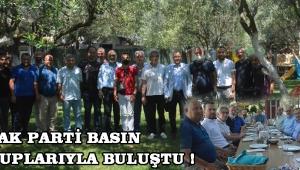 AK Parti Basın Mensuplarıyla Buluştu