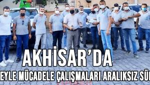 Akhisar'da Haşereyle Mücadele Çalışmaları Aralıksız Sürüyor
