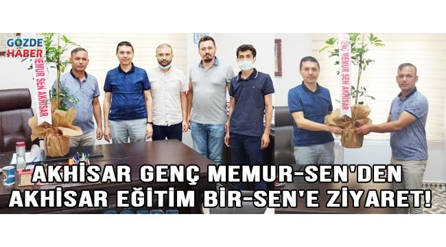 AKHİSAR GENÇ MEMUR-SEN'DEN AKHİSAR EĞİTİM BİR-SEN'E ZİYARET!