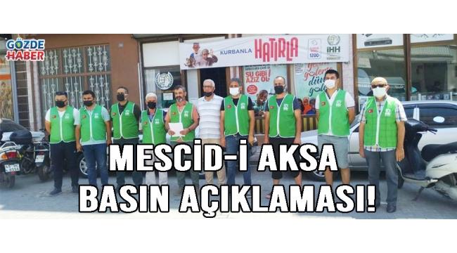 Mescid-i Aksa Basın Açıklaması!