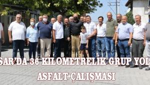 Akhisar'da 36 Kilometrelik Grup Yolunda Asfalt Çalışması!