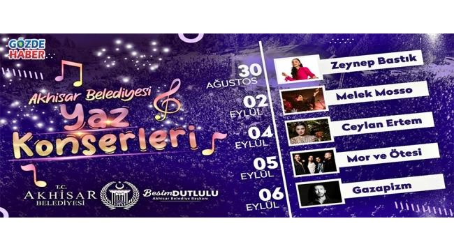 Akhisar'da kurtuluş günlerine özel 5 büyük konser!
