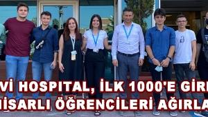 MAVİ HOSPITAL, İLK 1000'E GİREN AKHİSARLI ÖĞRENCİLERİ AĞIRLADI !