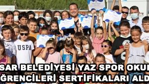 Akhisar Belediyesi Yaz Spor Okulları Öğrencileri Sertifikaları Aldı !